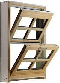 value winwdows doors Fusionwood Double Hung Window Image
