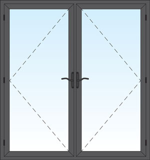 aluminum French Swing Door Product Photo