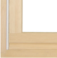 Value wood composite window and door frame material
